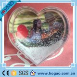 بلاستيكيّة ثلج كرة أرضيّة صورة إطار حالة حبّ موضوع شكّل قلب بلاستيكيّة ثلج كرة أرضيّة مع صورة ملحقة