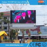 Pantalla video fija de la pared P10 de la INMERSIÓN al aire libre LED para la cartelera