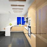 De aanraking-open Moderne Keuken Met motor Carbinet van het Ontwerp