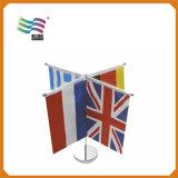 Изготовленный на заказ миниые выдвиженческие национальные флаги верхней части таблицы с стойкой (HYTF-AF022)