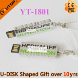Bastone eccezionale del USB di marchio carattere/della lettera per i regali liberi (YT-1803L)