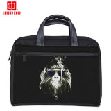 Schwarzer Geschäfts-Beutel-Arbeitsweg-Handtaschen-Laptop-Beutel für Zugpendel-Rahmen-Laufkatze-Beutel