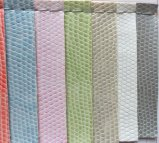 Couro do PVC do seixo para sacos dos casos cosméticos