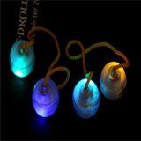 Io-io da esfera das pontas do dedo do io-io da esfera do brinquedo da inquietação do diodo emissor de luz da alta qualidade