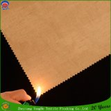 Tela de lino tejida tela ignífuga de la cortina del poliester impermeable de la cortina del apagón