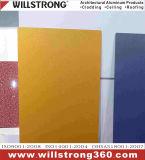 colore metallico dell'argento composito di alluminio a prova di fuoco rivestito del comitato di 5mm PVDF
