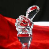 De Trofee van het Glas van het Kristal van de Vorm van de duim