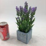 Искусственная лаванда цветет керамическое Potted