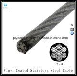 Câble en acier inoxydable revêtu de vinyle 7 * 19 (T304) - Câble d'aéronef