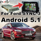 Android 5.1.4.4 GPS Navigation Box for Ford Sync 3 Ecosport Escape Edge Fusion Video Interfaces