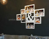 Bâti multi en plastique de photo de collage de décoration d'Openning DEL
