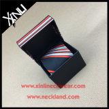 Jacquard Woven Wholesale Seda Tie Sets com correspondência Gift Box