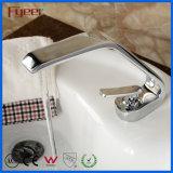 Salle de bains Bibcock Fyeer Chrome robinets robinet du bassin de qualité supérieure avec longue goulotte