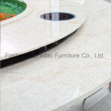 Tabella pranzante rotonda del marmo di disegno moderno usata