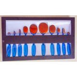 Ovale Zahnbürste-kosmetisches Pinsel-Set 10PCS mit Papierkasten-Paket