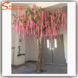Decoración de la boda Árbol artificial de la flor de cerezo