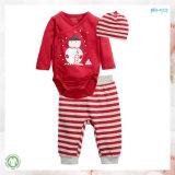 A roupa macia do bebê do estilo da impressão da roupa do bebê de Handfeel ajustou-se