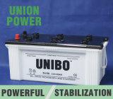 Trockene belastete JIS StandardN150 12V150ah Leitungskabel-saure Selbstbatterie der LKW-Batterie-