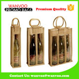 Tissu de verre bouteille de vin et boissons sac fourre-tout pour l'Emballage de cadeau pique-nique transportant des aliments
