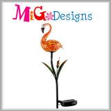 Pieu extérieur de modèle de fleur en métal avec les lumières solaires de DEL