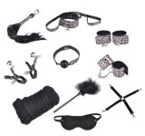 Luxueux Ensemble leopard jeu adulte Bondage BDSM Fetish Bondage Kit sex toy de retenue pour les couples