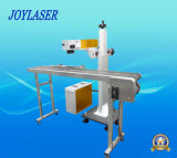 máquina de la marca del laser de la fibra del vuelo del metal 10With20With30W/del no metal