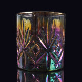 Íon que chapeia os frascos de vidro da vela da cor brilhante