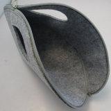 Fieltro de lana marca de la bolsa de cosméticos bolsa de maquillaje para mujeres