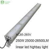 iluminación linear de la bahía de 250W LED alta para la luz industrial