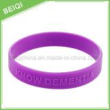 Wristband /Bracelet del silicone impresso modo su ordinazione del fornitore per promozionale