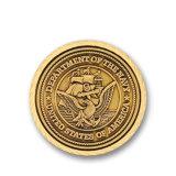 L'argento dell'oro due militari del metallo di tono sfida la moneta antica del ricordo