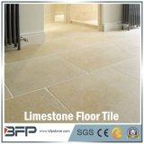 Mattonelle di pavimentazione beige del calcare del materiale da costruzione per la decorazione della stanza da bagno