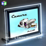 Table Stand Acrylic Poster Frame LED Light Box pour la publicité Signe