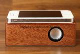 Haut-parleur mobile sans fil portatif de contact d'admission d'appel gratuit de mains en bois