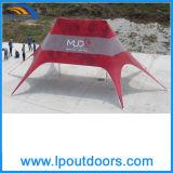 판매를 위한 두 배 폴란드 바닷가 별 그늘 천막을 인쇄하는 옥외 관례