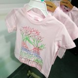 아이들의 t-셔츠 간결 소매 아이들의 의복 소녀 또는 소년의 t-셔츠