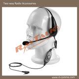 Double oreille Casque léger avec microphone de la rampe gauche (ERS-0226D)