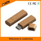 Dunkles hölzernes USB-Blitz-umweltsmäßiglaufwerk