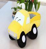 Het leuke Gele Gevulde Speelgoed van de Pluche Vrachtwagen
