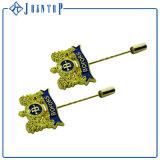 Pin di timbratura d'ottone su ordinazione del risvolto del distintivo del metallo dello smalto