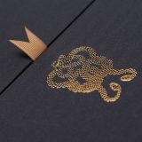 Золотая фольга горячего тиснение фольгой передача тепла сетку на высокое качество вина бумажных упаковочных материалов