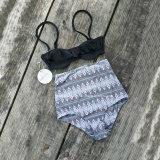 Traje de baño del bordado de la playa del juego de Swinming de señora Sexy Bikini Swimwear Set
