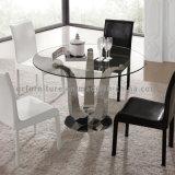 De rond Aangemaakte Eettafel van het Metaal van het Glas Hoogste