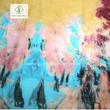 Новых печатных цветов Deisgn Бич шаль леди мода шелковые шарфы
