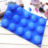 Queque pequeno azul do silicone do alimento da forma de Fower com 29.5*17.5*2.5cm