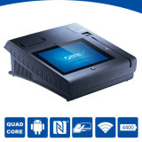 Máquina de la tarjeta de débito POS Certificado EMV con la impresora Bluetoot WiFi NFC Lector