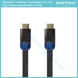 Высокоскоростной плоский мужчина к мыжскому кабелю HDMI с двойной раковиной металла цвета