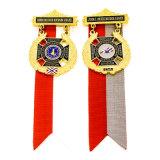 La polizia del metallo dell'oro dello smalto di alta qualità Badge