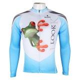Прыжком лягушка Pattened спортивной моды куртка Топс мужчин на велосипеде Джерси