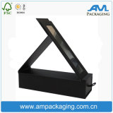 New Arrival Black Cardboard Fashion Portable Cheap Make Up Box with Mirror